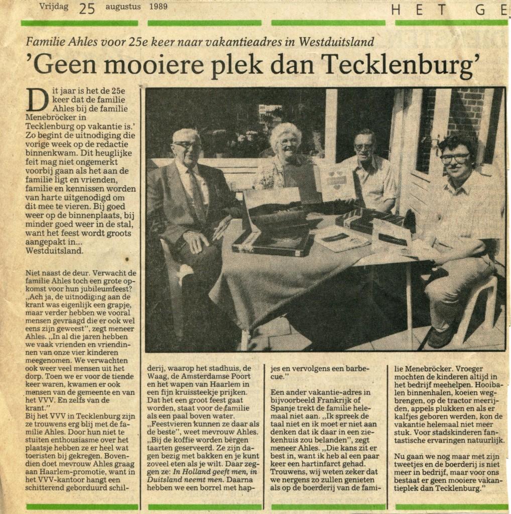Haarlems Dagblad | vrijdag 25 augustus 1989 | Het Gesprek |