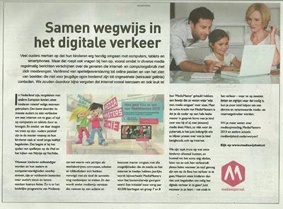2013aug29 Telegraaf artikel Karina Wegwijs in het Digitale verkeer
