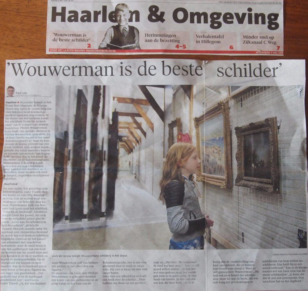 Kleindochter Lovis in Frans Hals Museum over schilderij Wouwermans
