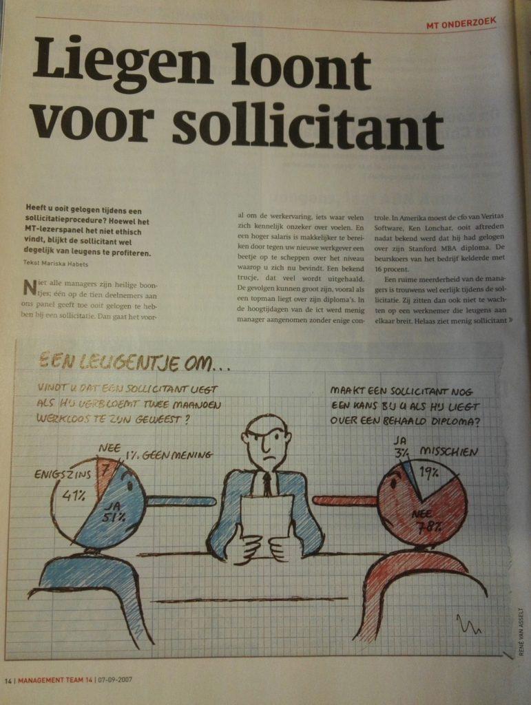 2007sep07 Management Team Liegen loont voor sollicitant