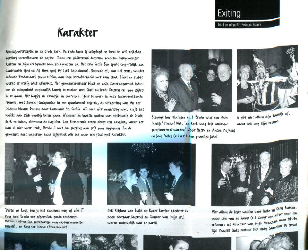 1999feb00 Exit Magazine verslag nieuwjaarsreceptie