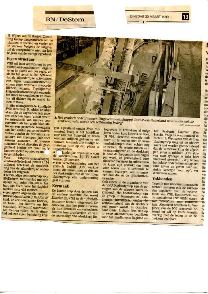 1999mrt30 BNDeStem VNU splits dagbladengroep op 02